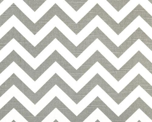 Zig Zag in Slate Fabric by the Yard | 100% Cotton