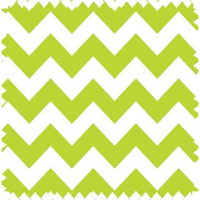 Zig Zag Lime Fabric By The Yard | 100% Cotton