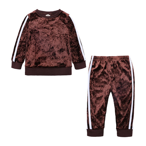 Baby Girls Velour Track Suit Outfit