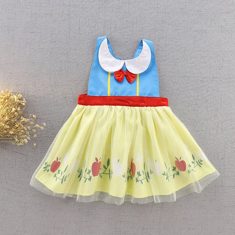 Snow White Bib Apron Smock Dress