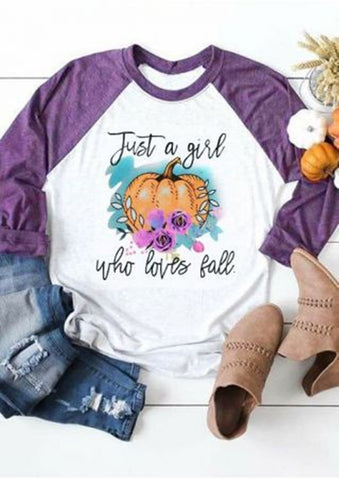 Just a Girl Who Loves Fall Raglan - My Cutie Pye Boutique