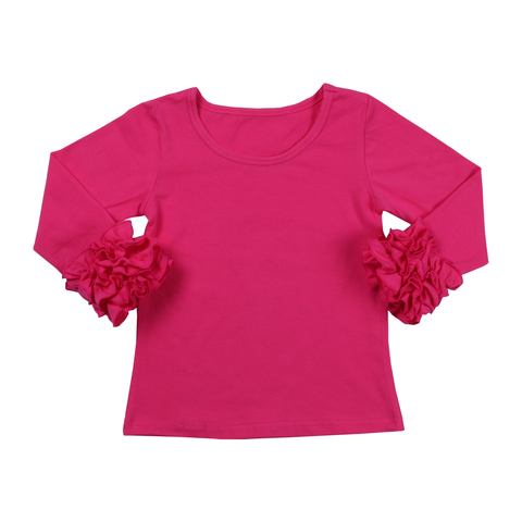 Hot Pink Icing Long Sleeve Top - My Cutie Pye Boutique