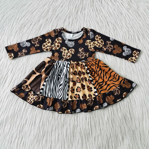 Baby Clothing Kids Clothes Boutique Clothes Spring and Summer 2021 leopard Children Clothes