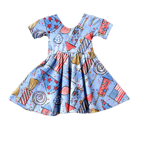 Patriotic Party Twirl Dress - My Cutie Pye Boutique