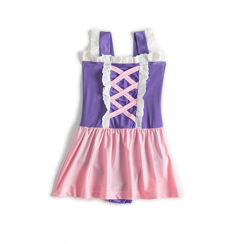Rapunzel Princess Swimming Suit