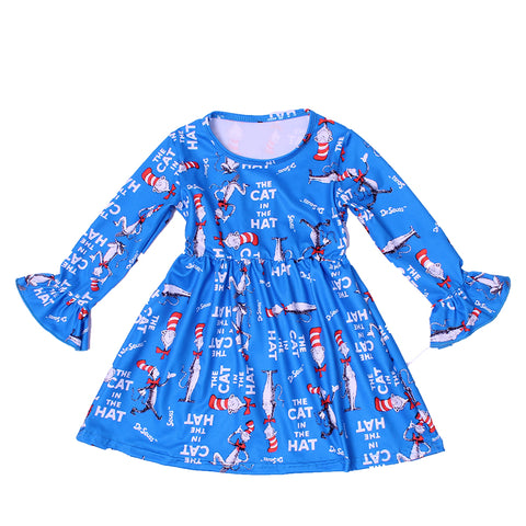 Cat in the Hat Milk Silk Lap Dress - My Cutie Pye Boutique