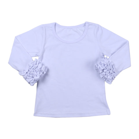 White Icing Long Sleeve Top - My Cutie Pye Boutique