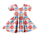 Patriotic Pastries Twirl Dress - My Cutie Pye Boutique