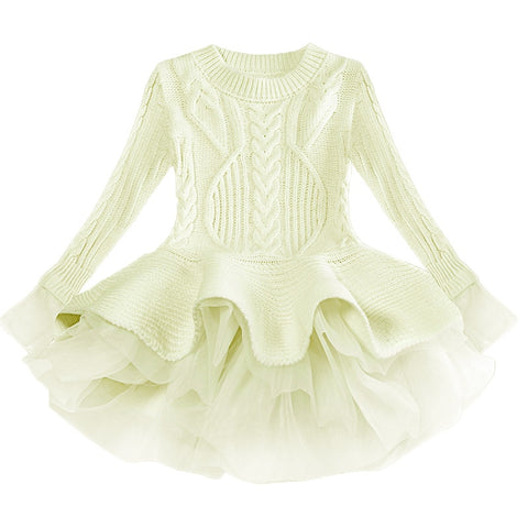 Cream Sweater Tutu Dress