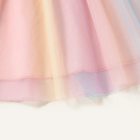 Rainbow Sheer Party Dress