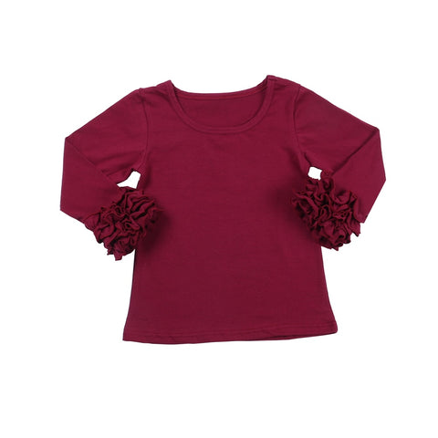 Maroon Icing Long Sleeve Top - My Cutie Pye Boutique