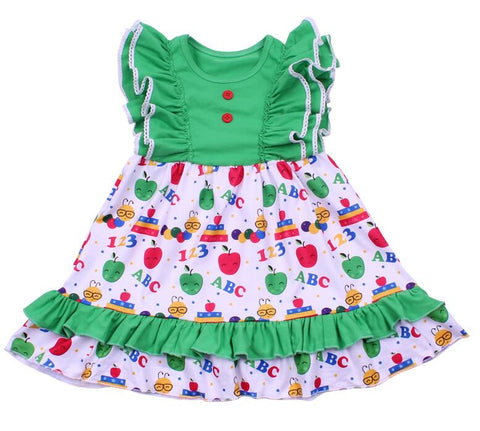 Caterpillar Flutter Back to School Dress - My Cutie Pye Boutique