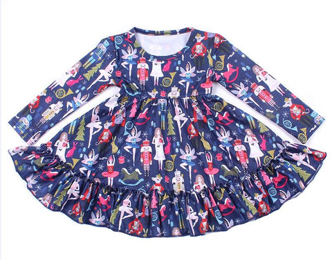 Nutcracker Milk Silk Twirl Dress - My Cutie Pye Boutique