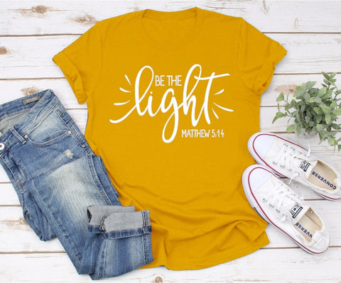Be The Light Women's Screen Tee - My Cutie Pye Boutique