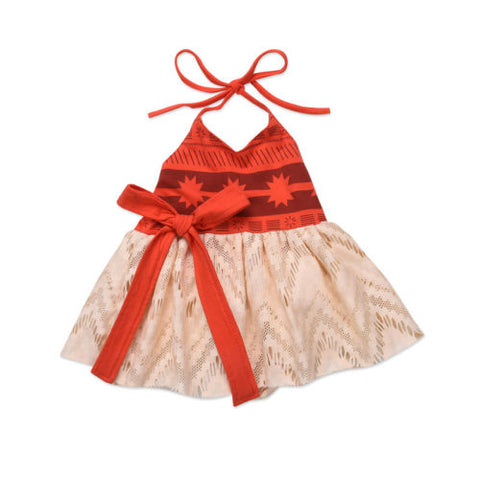 Baby Girls Moana Halter Dress Everyday Costume Sizes 3M-3T - My Cutie Pye Boutique