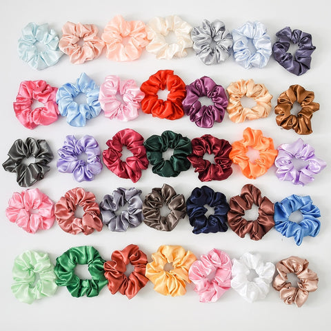 35 Piece Satin Scrunchie Lot - My Cutie Pye Boutique