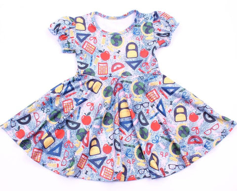 Back to School Twirl Dress - My Cutie Pye Boutique