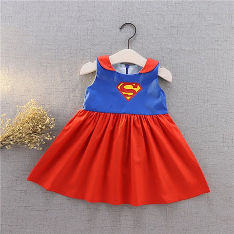 Super Girl Inspired Flutter Dress Costume - My Cutie Pye Boutique