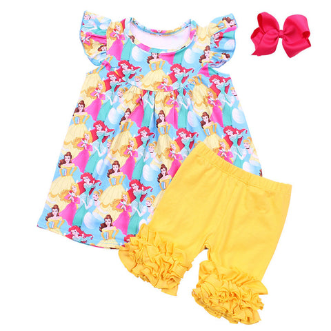 Disney Princess Rainbow Pearl Yellow Icings Set - My Cutie Pye Boutique