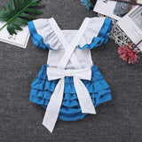 Newborns Baby Girls Fancy Clothing Flutter Sleeves Letters One Sweet-heart Pattern Romper Infantil Bebe Cosplay Party Costumes