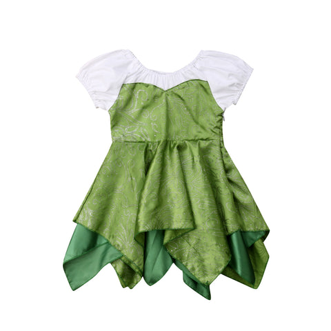 Baby Girls Tinker Bell Dress - My Cutie Pye Boutique
