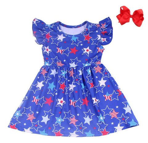 Star Flutter 4th of July Dress - My Cutie Pye Boutique