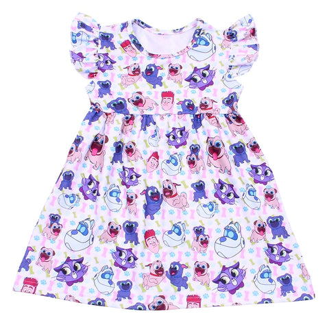 Puppy Pals Flutter Dress - My Cutie Pye Boutique