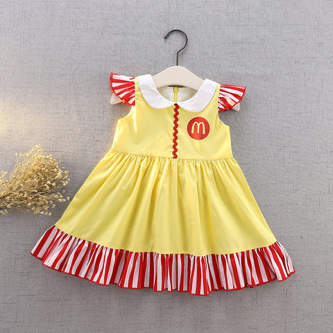 McDonald's Inspired Yellow Flutter Dress Costume - My Cutie Pye Boutique