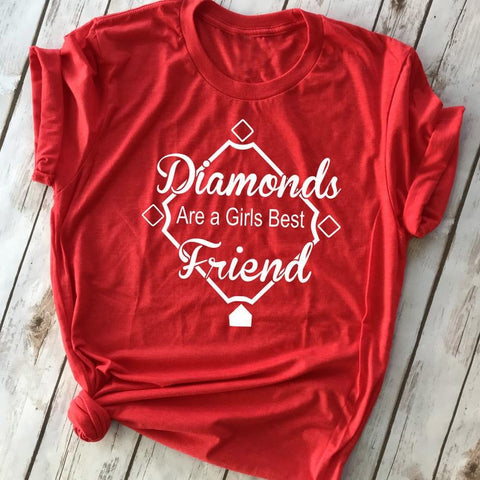 Diamonds Are A Girls Best Friend Women's Tee - My Cutie Pye Boutique