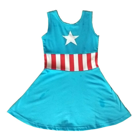 Super Hero Costumes Captain America Hulk Iron Man Wonder Woman 18M-10 - My Cutie Pye Boutique