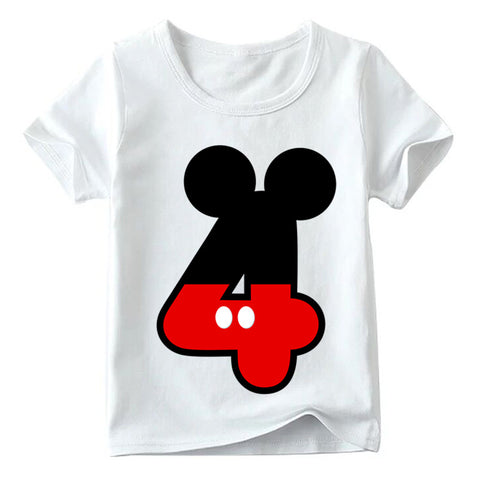 Mickey Mouse Red 4th Birthday Shirt - My Cutie Pye Boutique