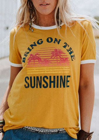Bring on the Sunshine Tee - My Cutie Pye Boutique
