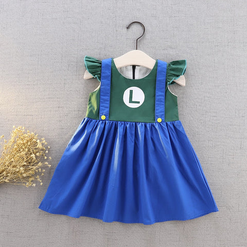 Luigi Inspired Flutter Dress Costume - My Cutie Pye Boutique
