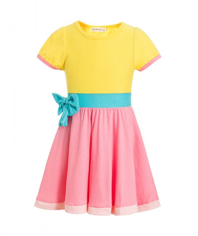 Fancy Nancy Yellow Pink Dress Costume Sizes 2T/3T-8 - My Cutie Pye Boutique