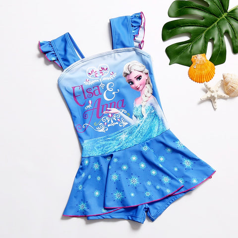 Elsa and Anna Swimsuit with Skirt - My Cutie Pye Boutique