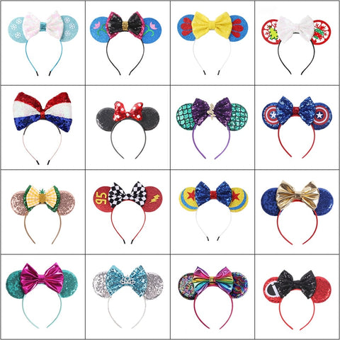 Kids Princess Dress Up Headband Girls FairyTale Role Playing Accessory Baby Girl Super Hero Cosplay Hairband Snow White Mickey