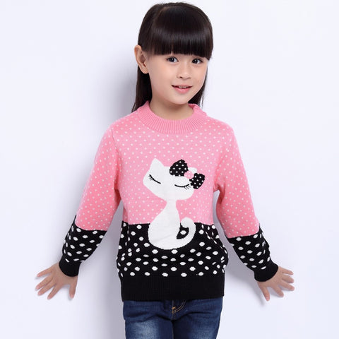 Cool Cat Polka Dot Sweater - My Cutie Pye Boutique