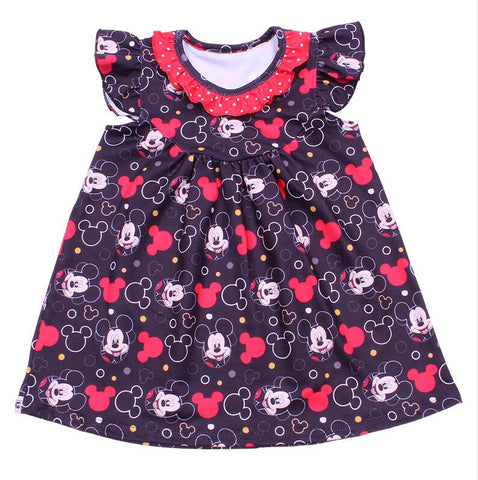 Mickey Black and Red Pearl Dress - My Cutie Pye Boutique