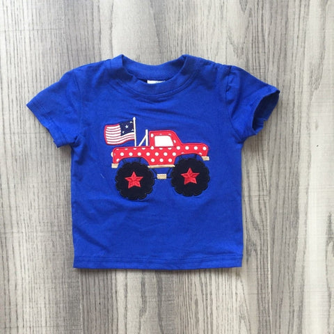 Boys 4th of July Truck T-Shirt - My Cutie Pye Boutique