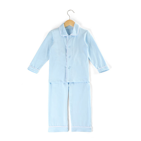 Light Blue Boys Pajamas - My Cutie Pye Boutique