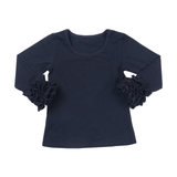 Black Icing Long Sleeve Top - My Cutie Pye Boutique