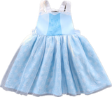 Light Blue Snowflake Elsa Bib Apron Smock Dress