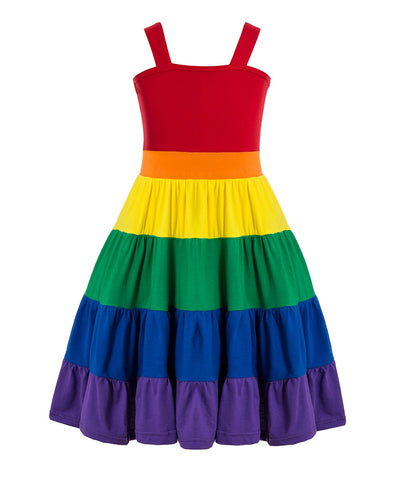Rainbow Twirl Sundress Red