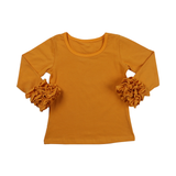 Mustard Icing Long Sleeve Top - My Cutie Pye Boutique