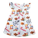 Baby Girls Chick fil a dress Summer Children Flutter Sleeve Clothes Soft Milksilk Dress Wholesales 12M to 7T Available Wholesale