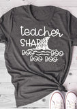 Teacher Shark Women's Tee - My Cutie Pye Boutique