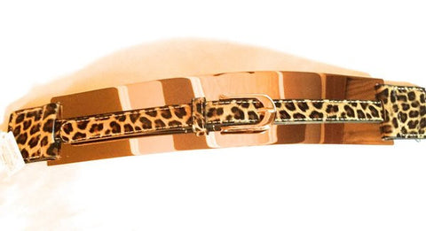 ANIMAL PRINT GOLD BELT