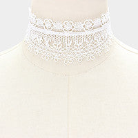 CHOKER WHITE LACE