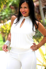 WHITE STONE JUMPSUIT