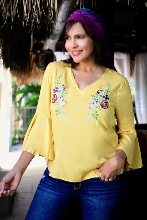 YELLOW FLOWER TOP